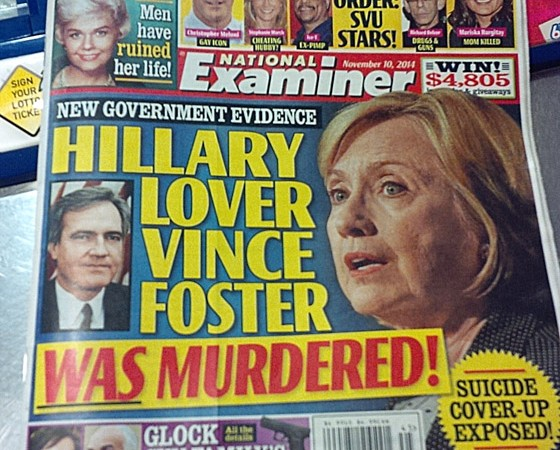 Image result for vince foster new york post hillary did it